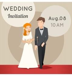 Bride and groom template wedding vector image