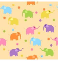 elephants background vector image