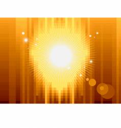 gold pixel background vector image vector image