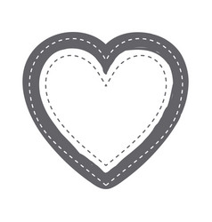 monochrome silhouette heart shape with dotted vector image vector image