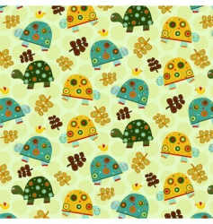 turtle pattern vector image vector image
