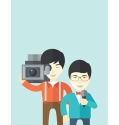 TV report vector image
