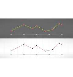 Economic finance graphics charts market vector