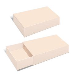 realistic template blank beige package paper box vector image vector image