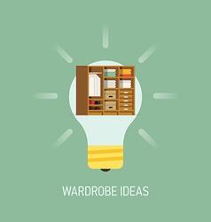 Room Ideas for a Wardrobe vector image vector image