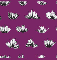 seamless pattern with random marker scribbles vector image