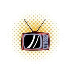 Tv antenna comics icon vector