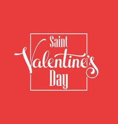 valentine hand lettering vector image vector image