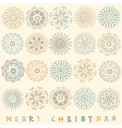 Vintage Christmas Pattern Card vector image vector image