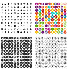 100 housework icons set variant vector