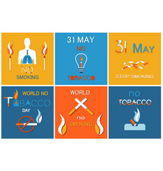 31 may day without cigarettes refuse harmful habit vector image