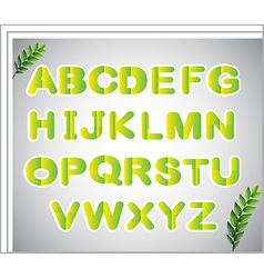 A paper with the letters of the alphabet vector