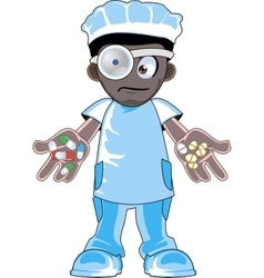 African american doctor vector image