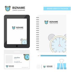 alarm clock business logo tab app diary pvc vector image