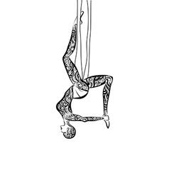 Anti-gravity Yoga vector image