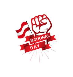 Austria national day template design vector
