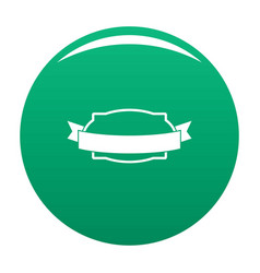 badge stamp icon green vector image