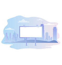 billboard empty in city near road vector image