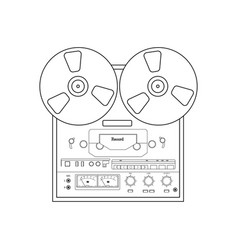 Bobbin tape recorder vector