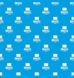 Brazil tourist pattern seamless blue vector