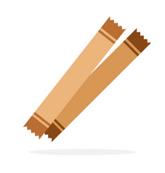 brown sugar paper sticks vector image