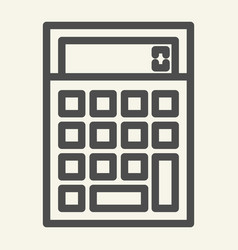 calculator line icon accounting vector image