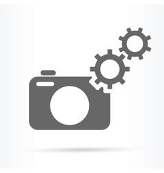 camera gears symbol icon vector image