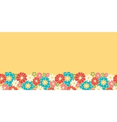 Camomiles horizontal seamless pattern background vector image