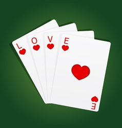 Cards love vector