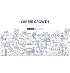 Career Growth Doodle Concept vector