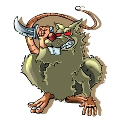 cartoon rat on white backgraund vector image