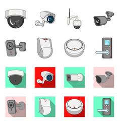 cctv and camera logo set vector image