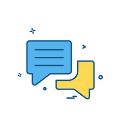 chat bubble sms icon design vector image