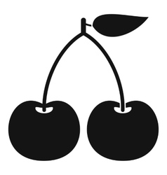 Cherry icon simple style vector