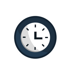 clock time office work business equipment icon vector image