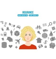Complex insurance design concept vector image
