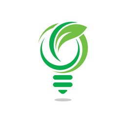 creative green innovative logo vector image