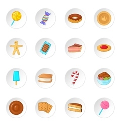 Different candy icons set vector