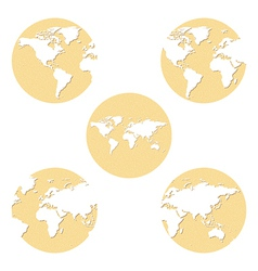 Earth globes set vector
