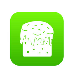 Easter cake icon digital green vector