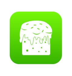 Easter cake icon digital green vector