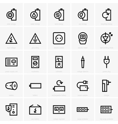 Electricity icons vector image