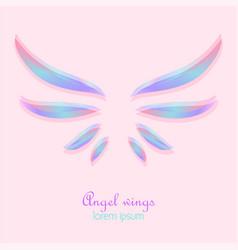 elegant angel wings vector image vector image