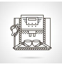 Espresso machine line style icon vector image