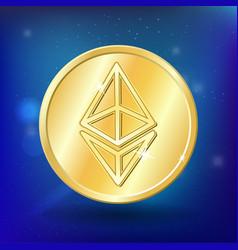 Ethereum bitcoin coin money virtual crypto vector