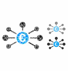 euro relations mosaic icon tuberous items vector image