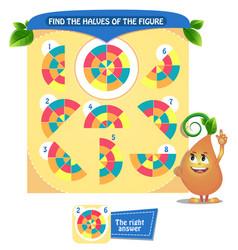Find shape halves logic vector