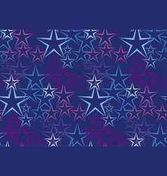 Five rayed star decorative background vector