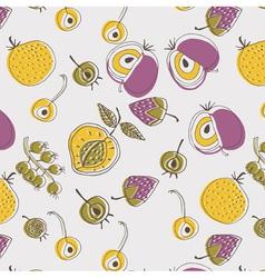 Flat fruit screenprint vector
