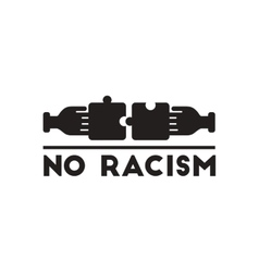Flat icon in black and white racism vector